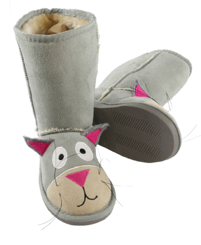 Kids Cat Toasty Toez Slipper Boots - Lazy One®